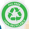 terrains de sports extérieurs, recyclable