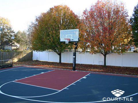 Terrain basketball exterieur