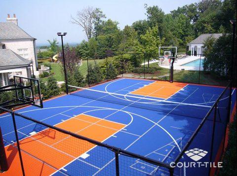 Terrains de sports int rieurs et ext rieurs basketball for Un cours de tennis