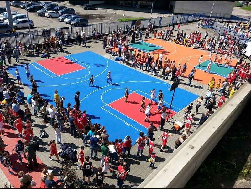 Terrain de sport : terrain événementiel