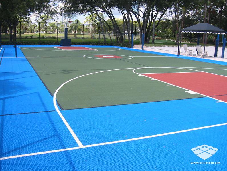 Terrain de sport : terrain de basketball