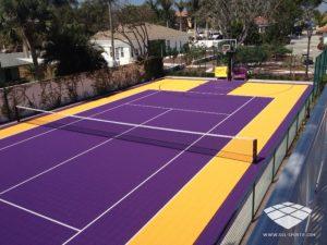 Terrain de Tennis - Réalisation (3) - Sol-Sportif